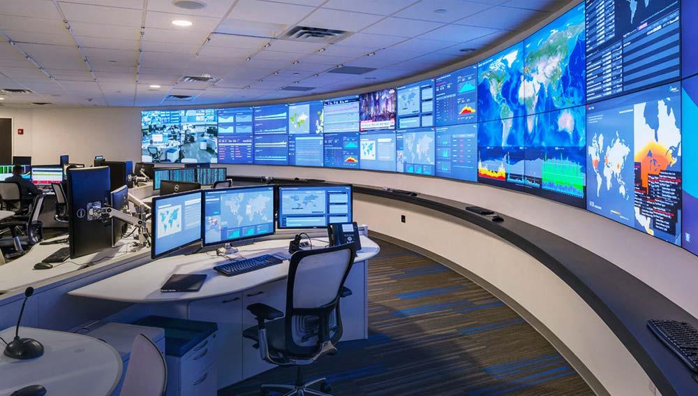 control room video wall display