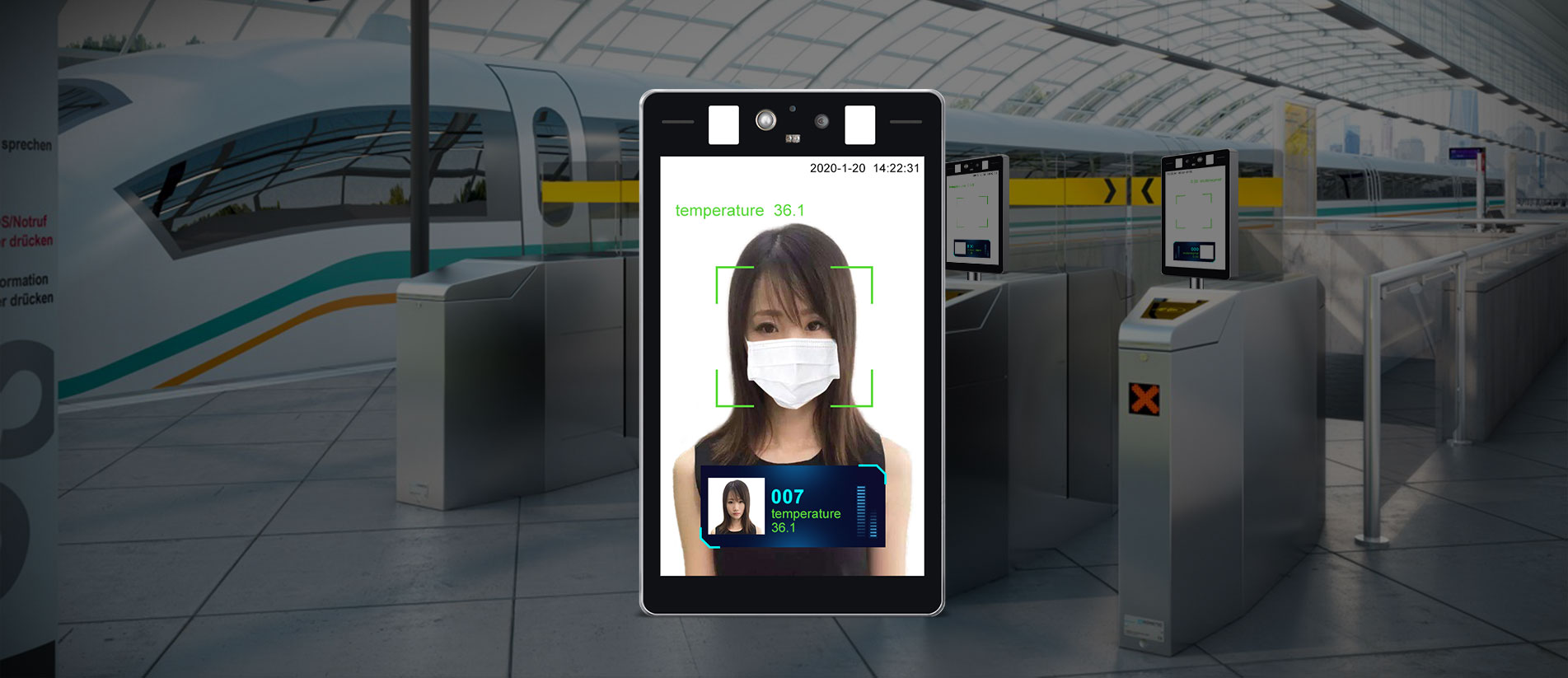 Body Temperature Kiosk with Face Recognition 1
